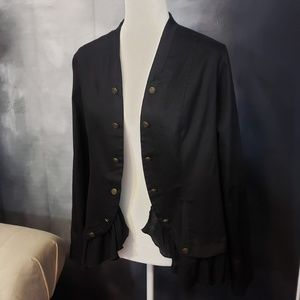 Simply Noelle Military Band Jacket Blazer Ruffle